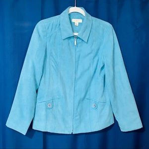 Womens Appleseed's Coat. Size 6. Baby Blue Color.